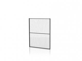 Tvoros segmentas su tvirtinimo detal. (Tinklo akutė 30x50mm, H=1300 W=2200mm, RAL9011)