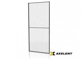 Tvoros segmentas su tvirtinimo detal. (Tinklo akutė 30x50mm, H=2200 W=0900mm, RAL9011)