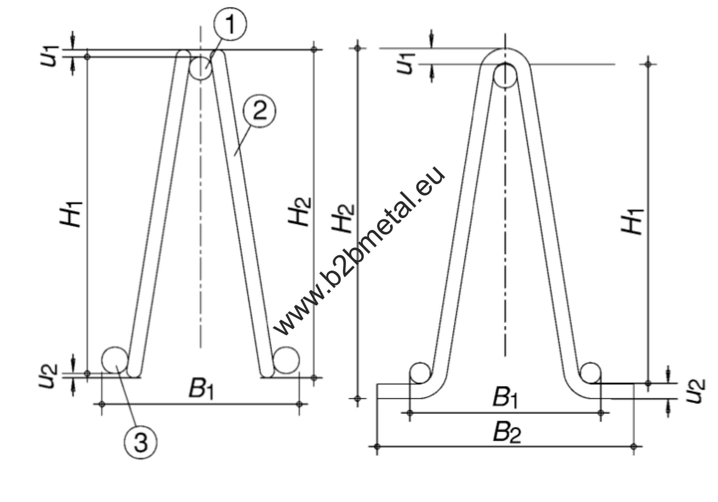 EN 10080 Designation Lattice girders drawing